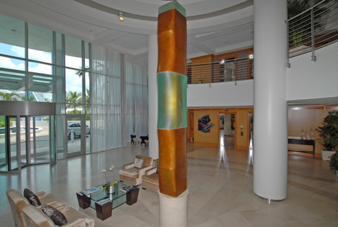 Entrance Lobby of downtown area condominium, Beau Ciel