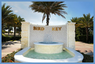 Entrance on Bird Key, Florida