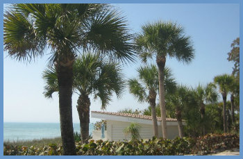 Beach Cabana on Casey Key, Florida