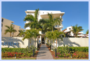 Gulf front condominiums on Siesta Key