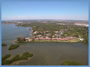 Waterfront condo community in Sarasota, FL