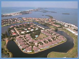 Longboat Key FL Neighborhood Aerial
