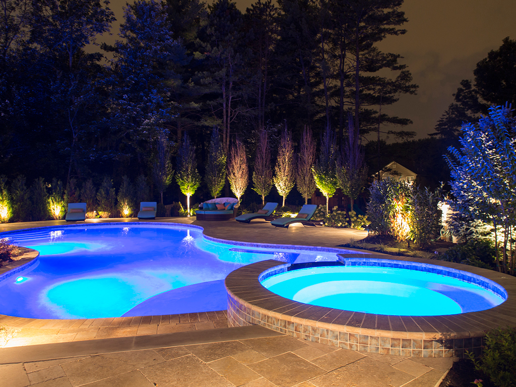 25 Clive Hills Road Pool At Night