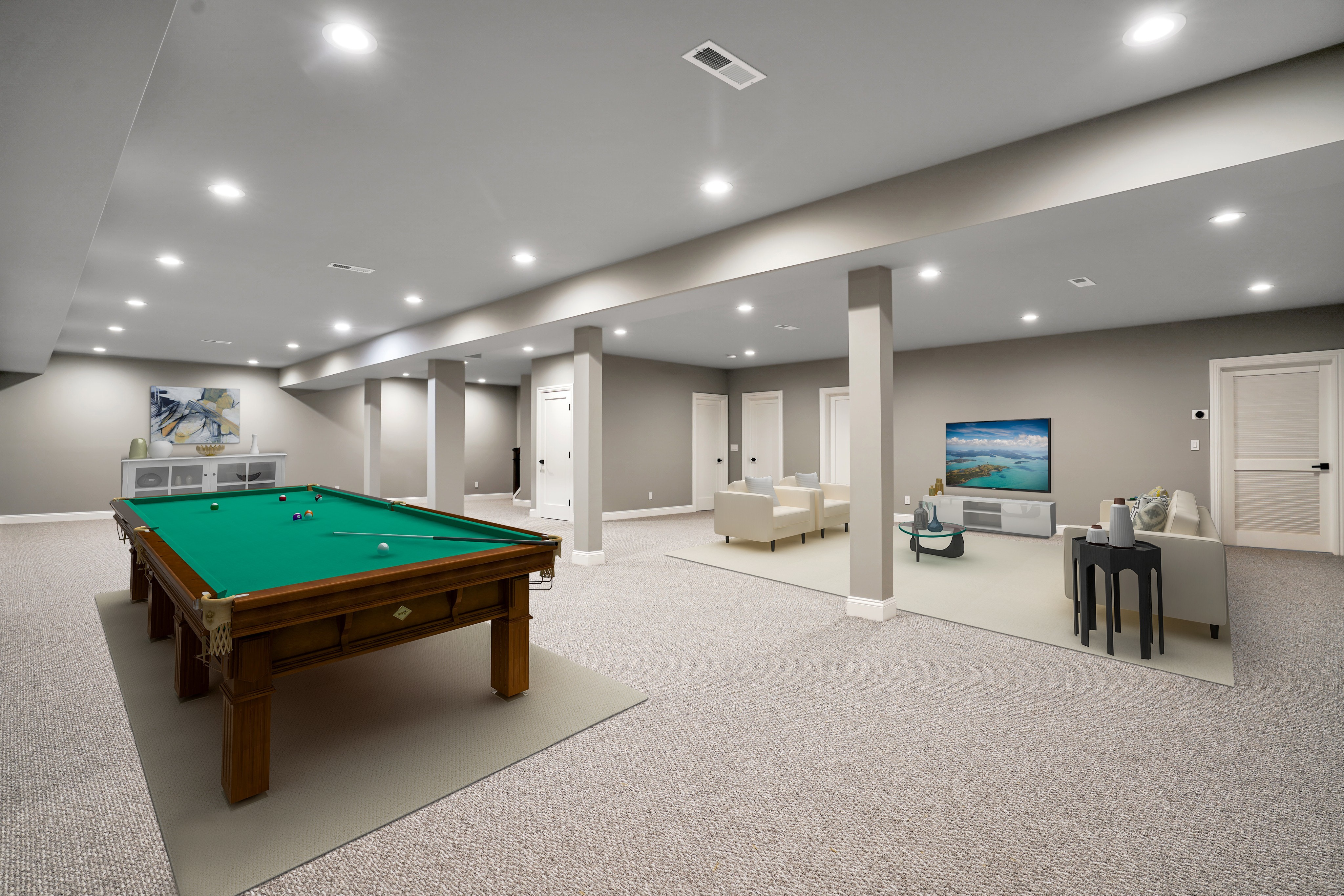 281 Hartshorn Drive Lower Level Recreation Room