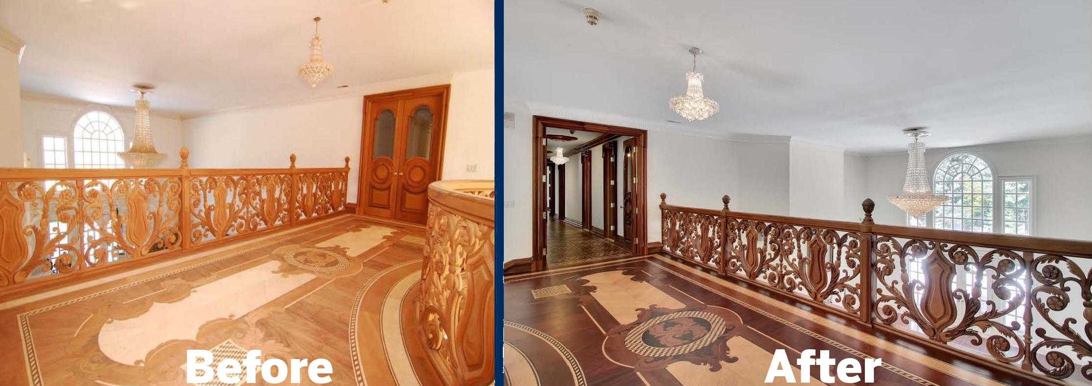 Second Floor Hallway Before & After