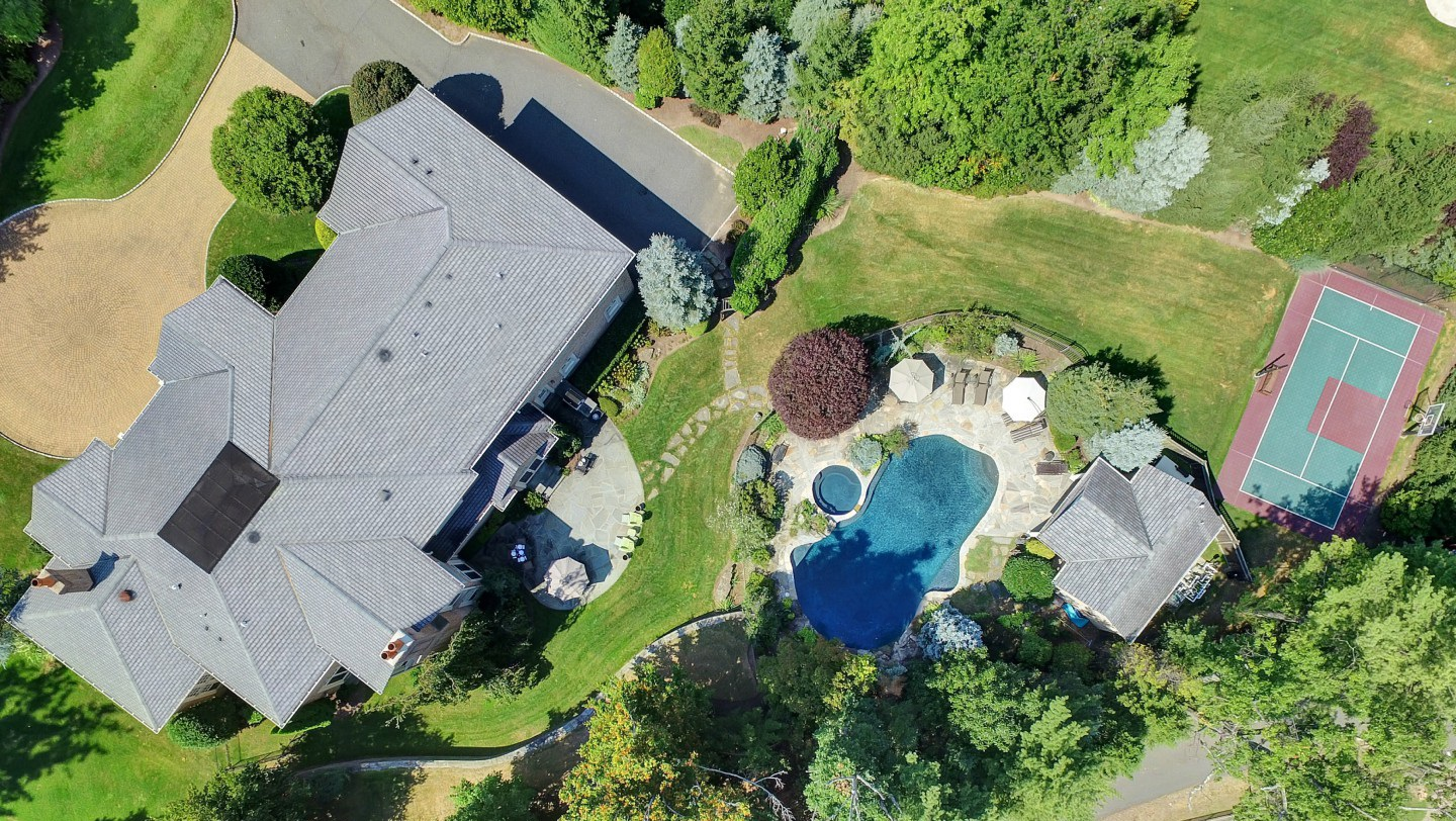 3 Spring Meadow Lane Aerial View of Estate