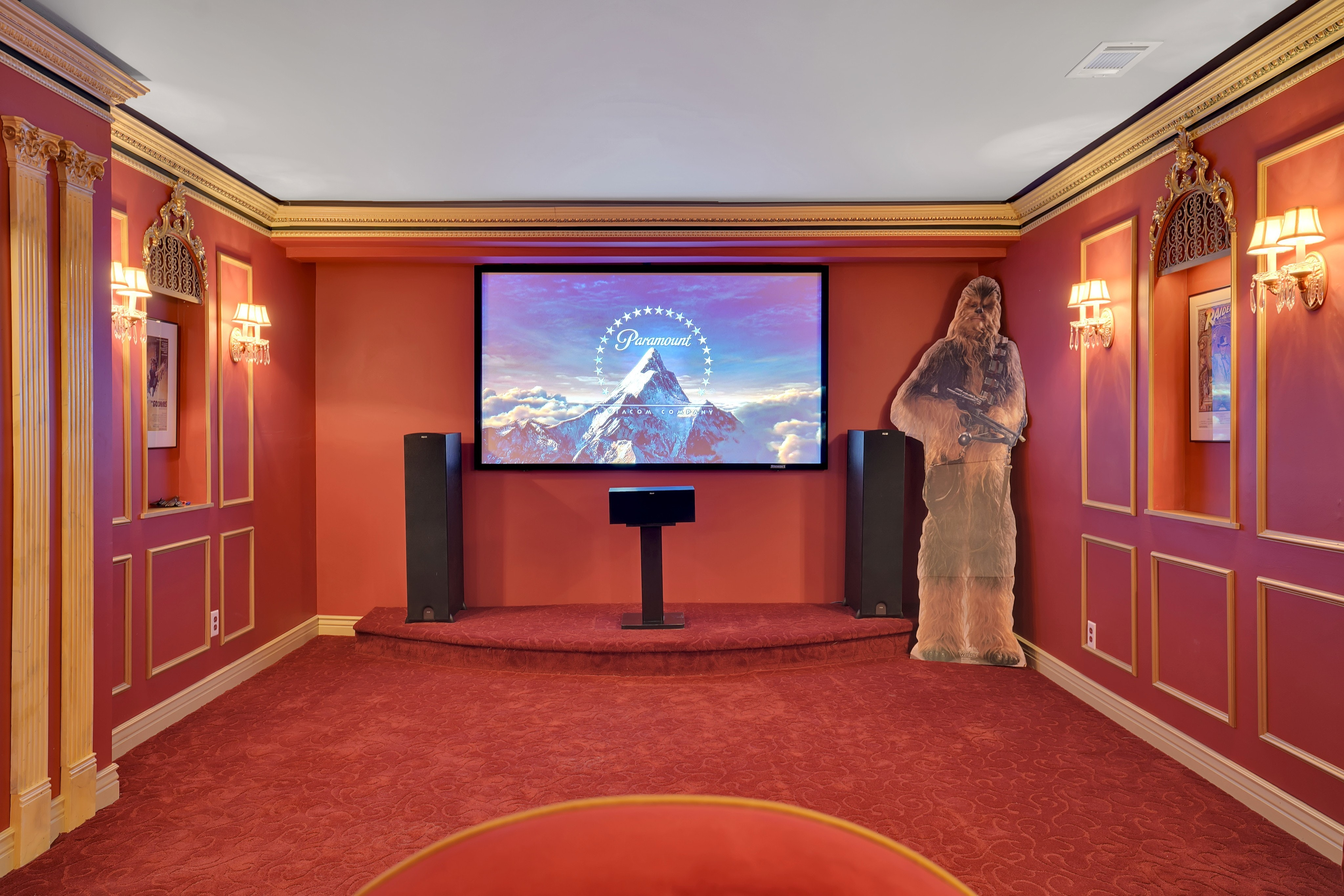 441 Overhill Road Home Theater Photo