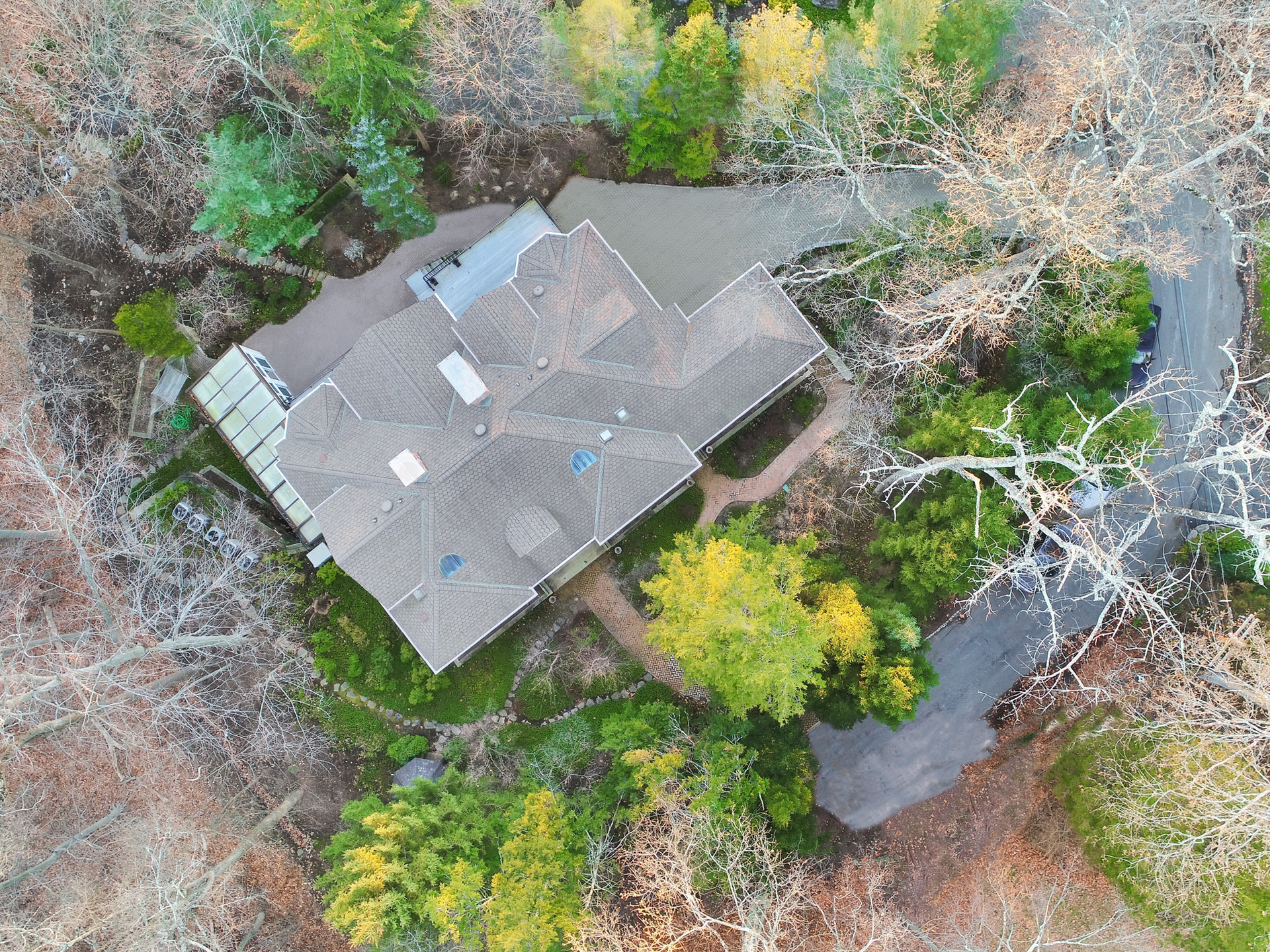77 Old Hollow Road - Aerial