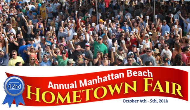 Crowd at the Manhattan Beach Hometown Fair