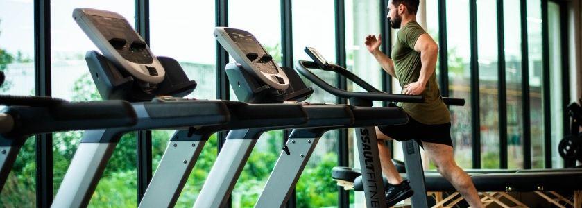 ellipticals and treadmills by window