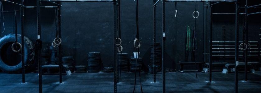 dark gym facility