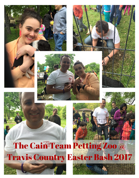 Cain Realty Group Petting Zoo at Travis Country Easter Bash 2017