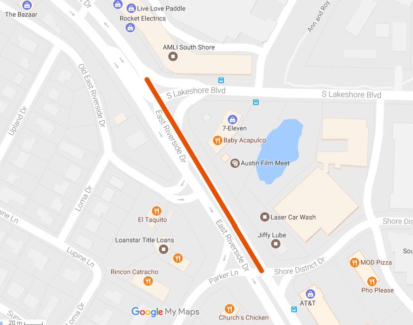 East Riverside Drive Corridor Improvement Project Construction