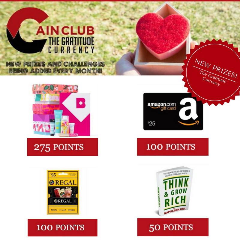Cain Club New Prizes
