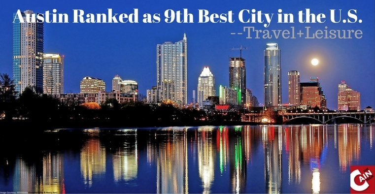 Austin Ranked as 9th Best City in the U.S.