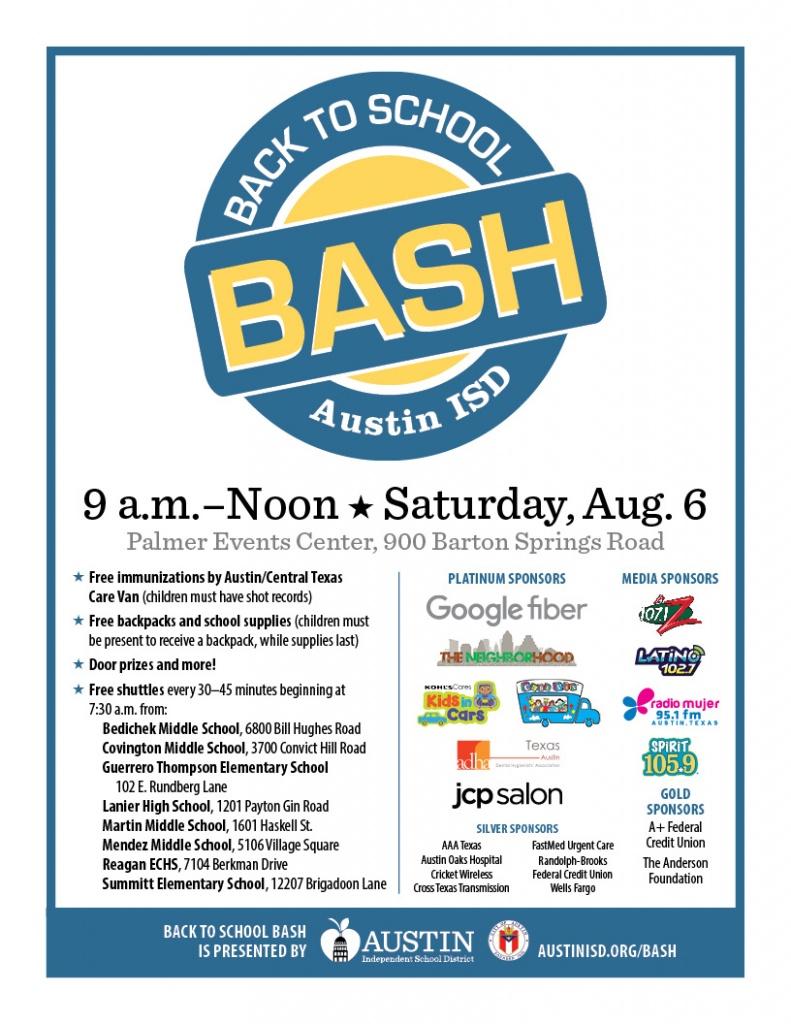 Back to School Bash Austin ISD