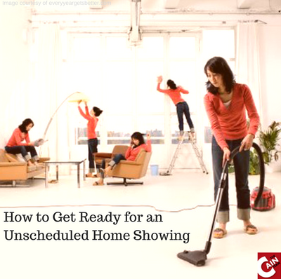 How to Get Ready for an Unscheduled Home Showing
