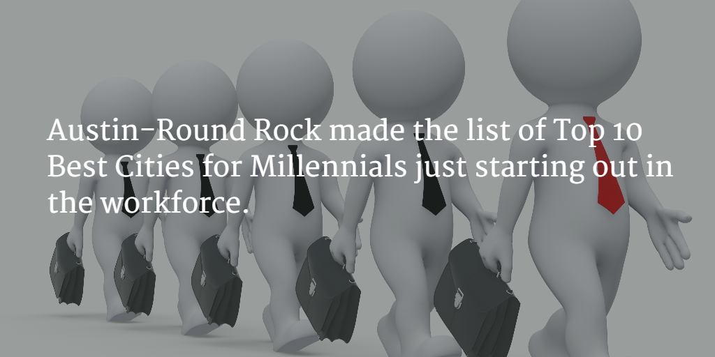 Austin-Round Rock is one of the best places for Millennials.
