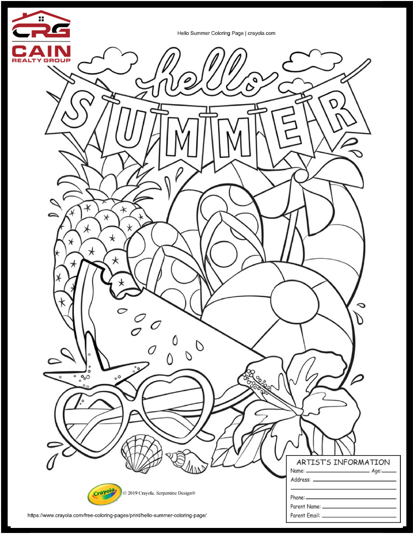Travis Country Austin TX Coloring Contest