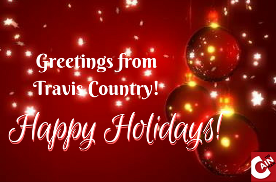 Greetings from Travis Country Happy Holidays