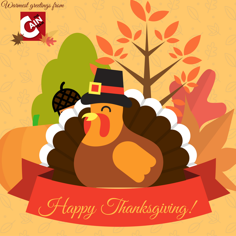 Happy Thanksgiving from the Cain Team