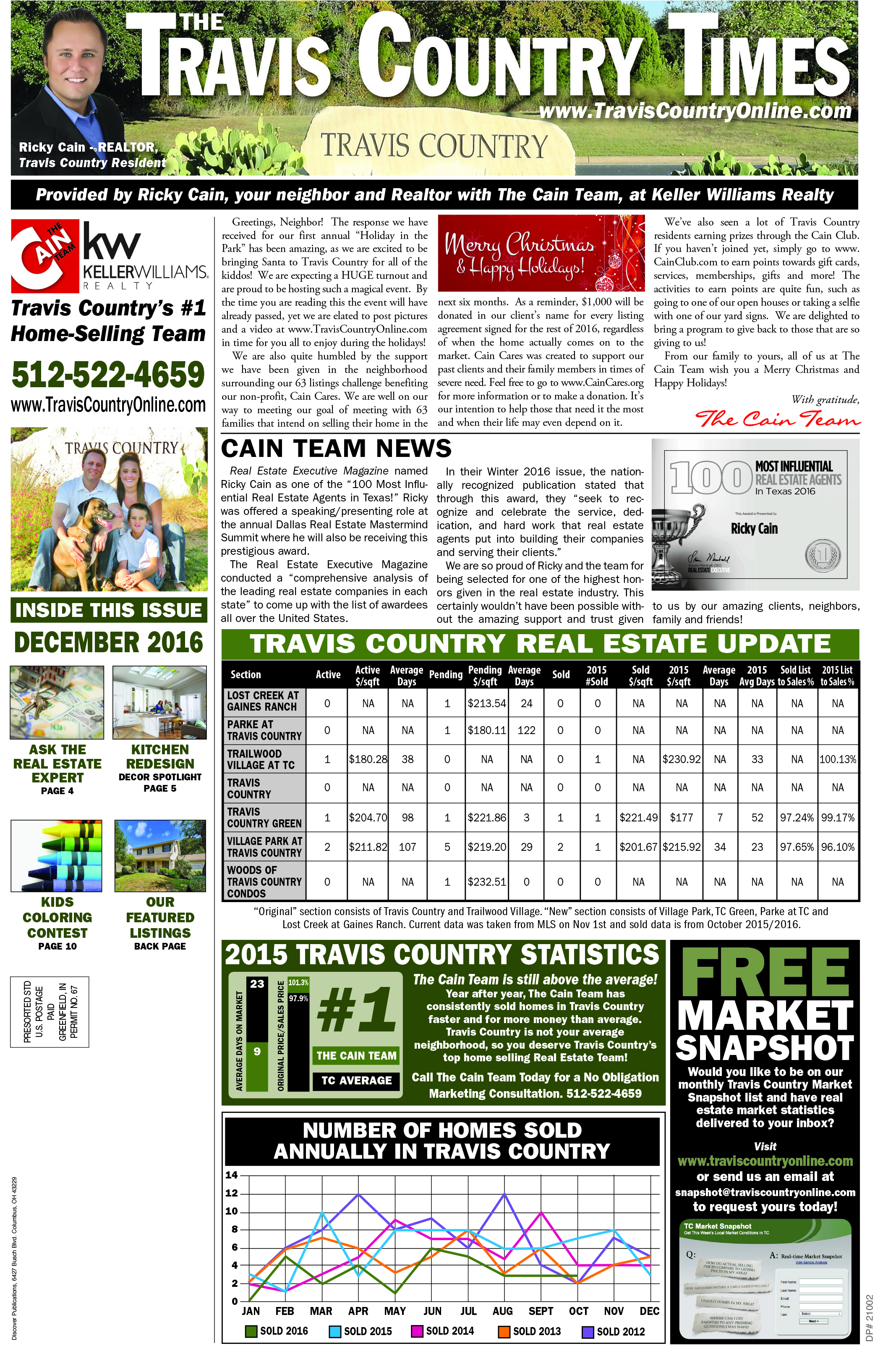 Travis Country Times December Issue