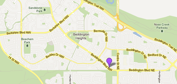 Map of Beddington in Calgary
