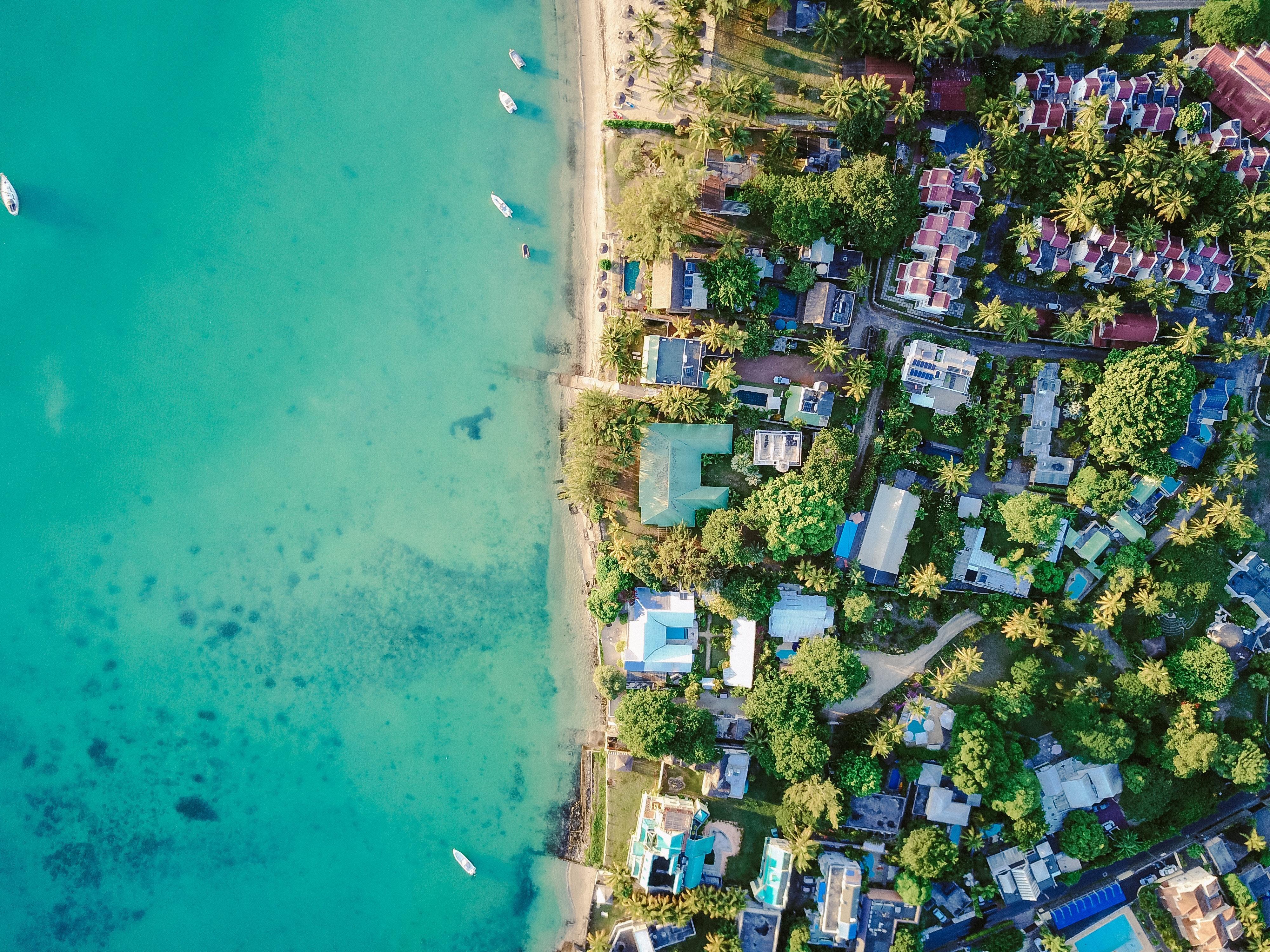 Aerial beach house