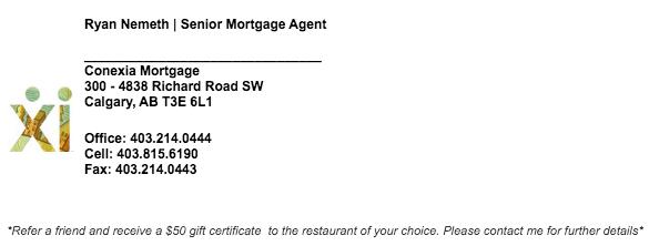 Ryan Nemeth Senior Mortgage Agent | Conexia Mortgage