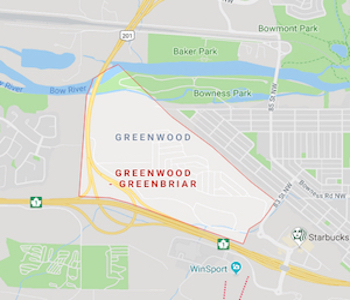 Greenwood-Greenbriar Community Map
