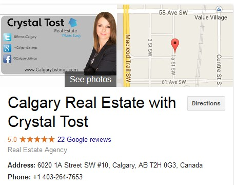 Calgary Real Estate Agent with 5 star reviews on Google