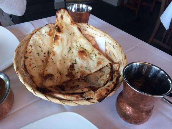 Nawab Restaurant's garlic naan