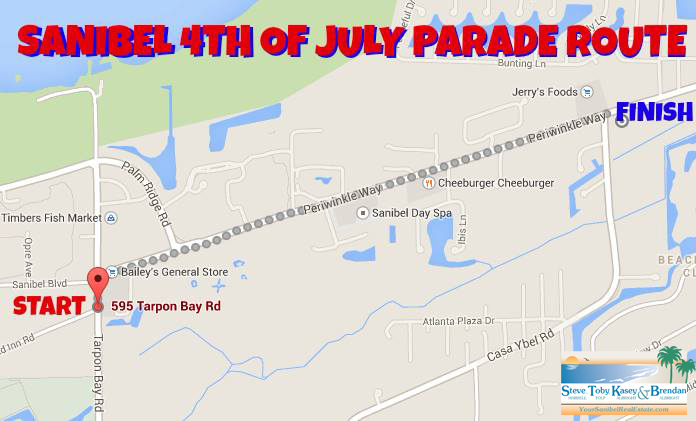 Sanibel 4th of July Parade Route