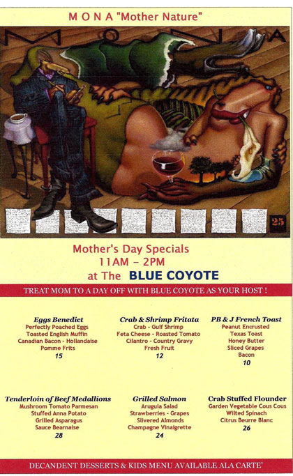 Blue Coyote Mothers Day