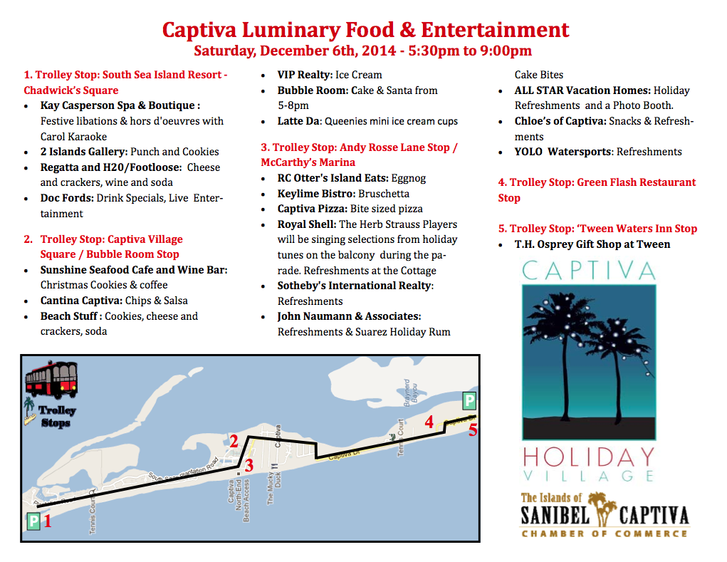 Captiva Luminaries Map