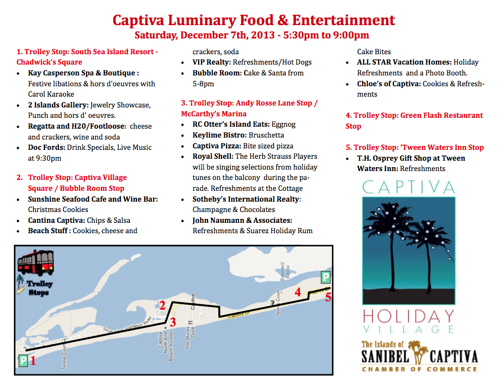 Captiva Luminary Map