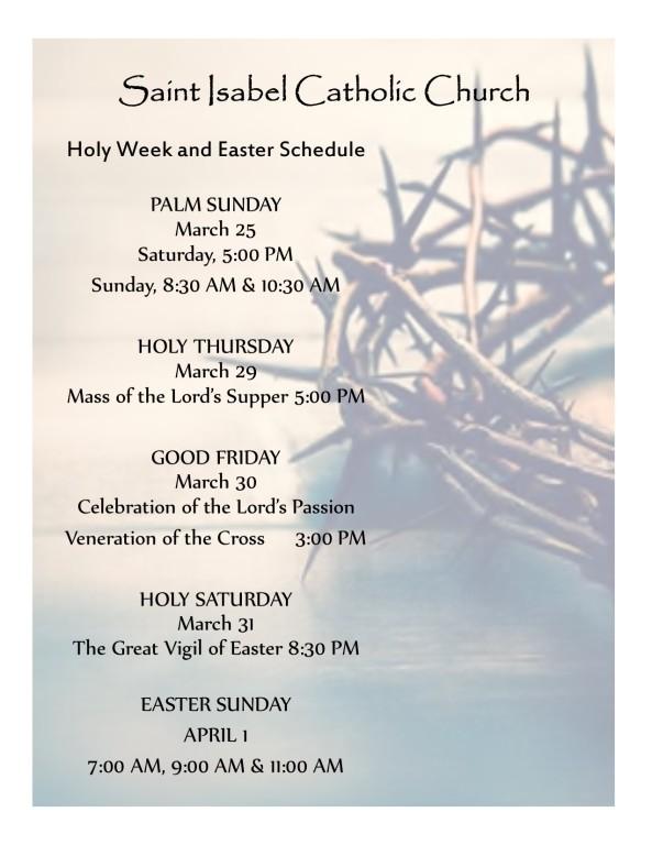 St. Isabel Sanibel Easter