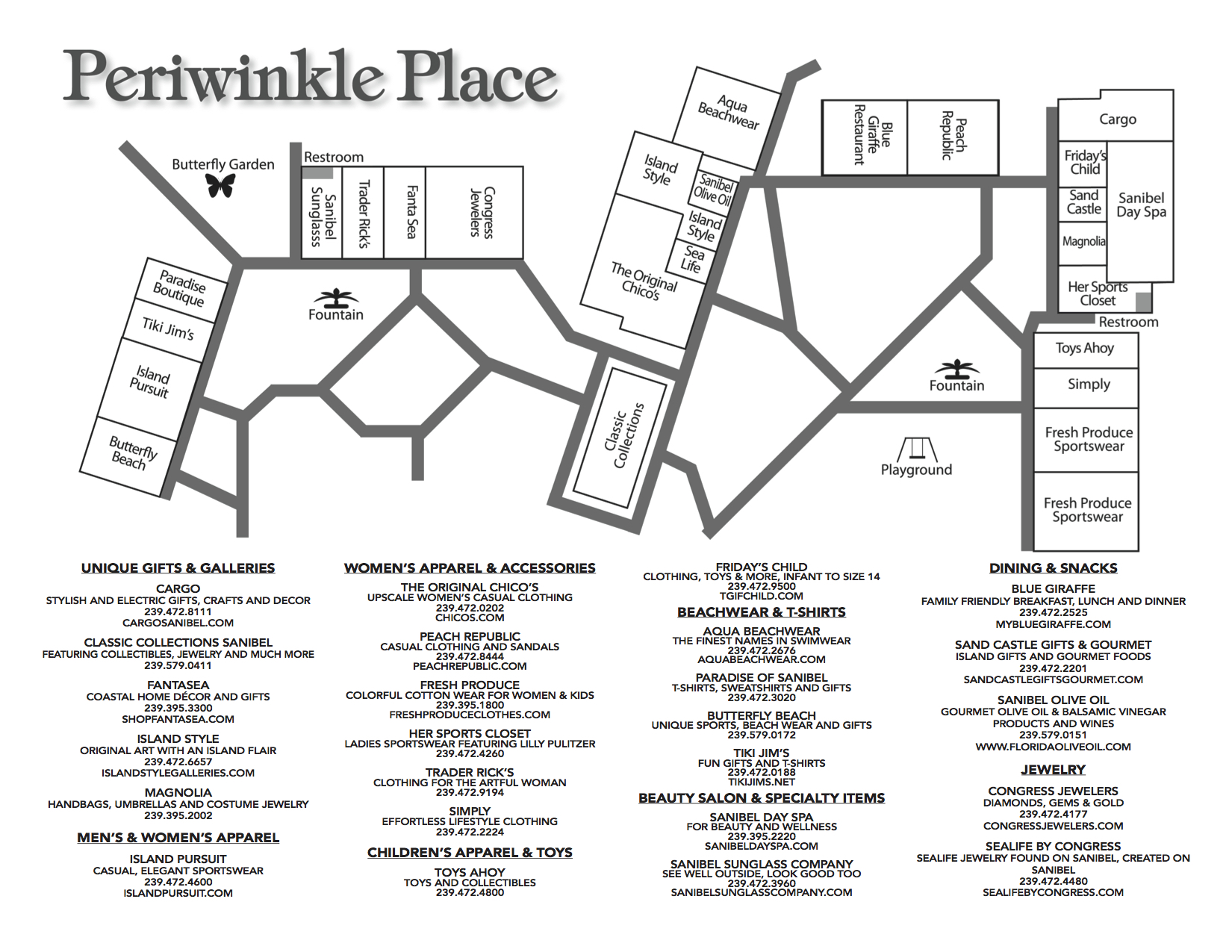 Periwinkle Place Map