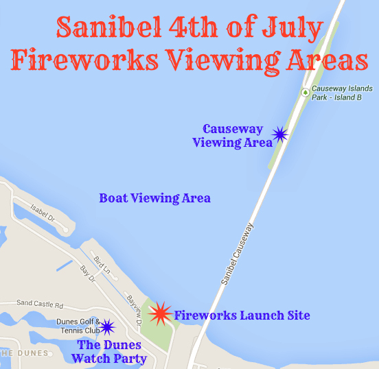Sanibel 4th of July Fireworks Viewing Area