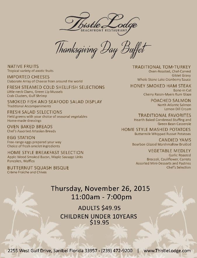Thistle Lodge Thanksgiving