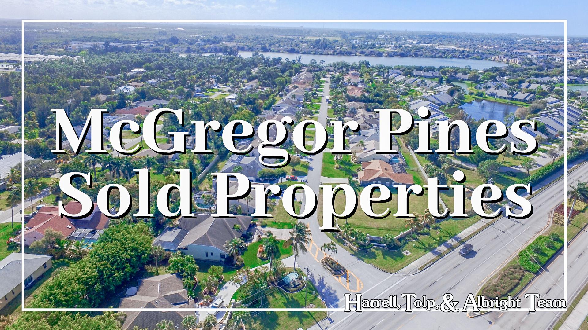 McGregor Pines Sold Properties