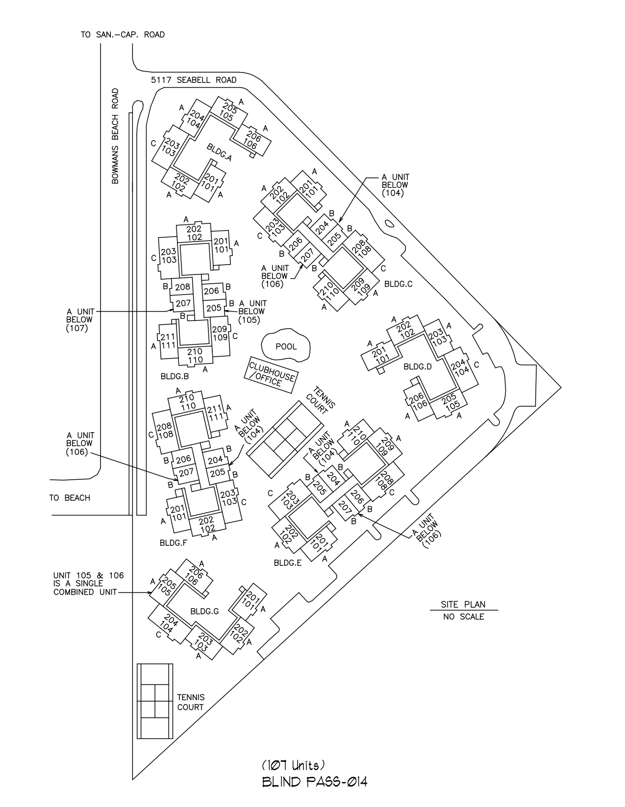Blind Pass Site Plan