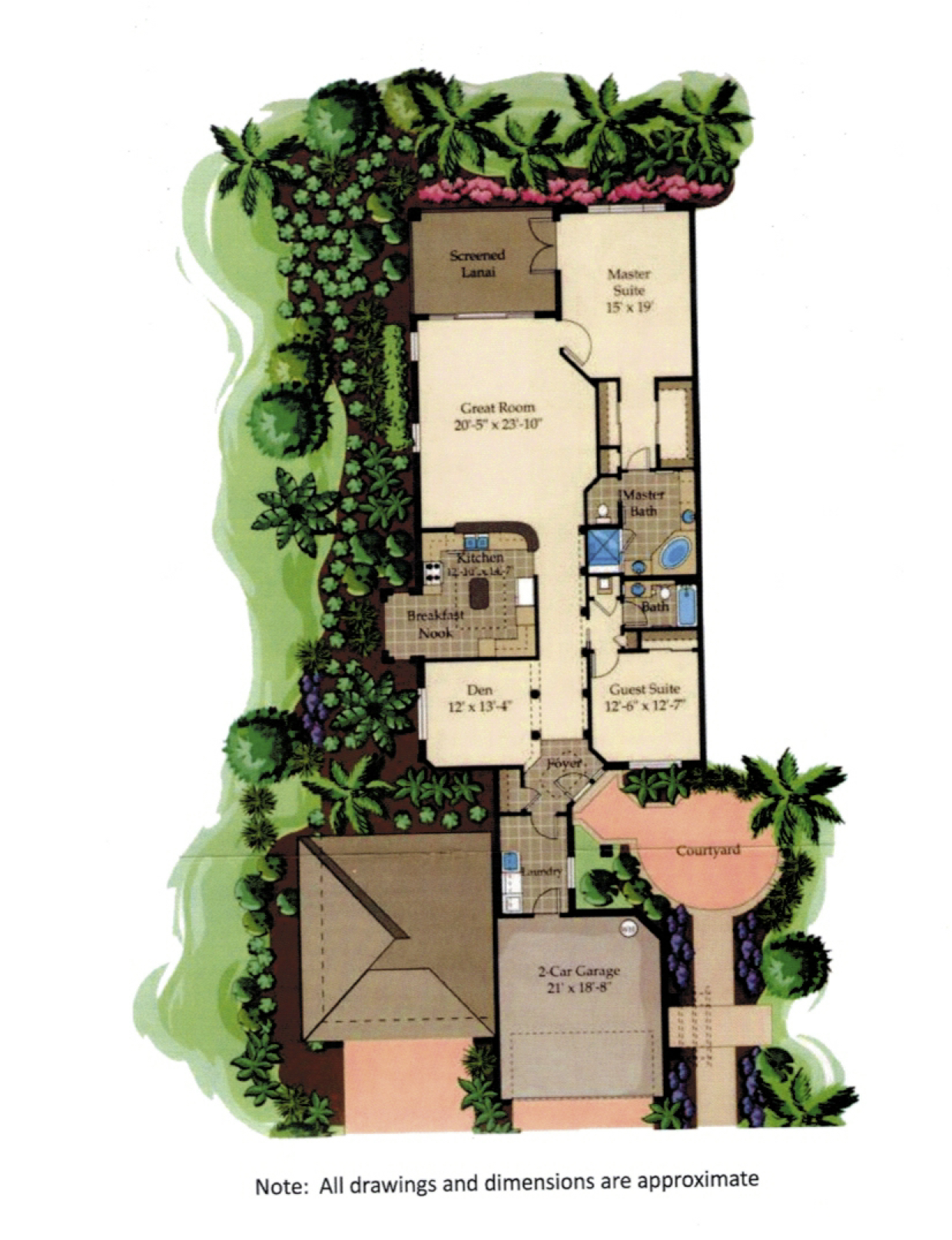 Coronado Downstairs Floor Plan