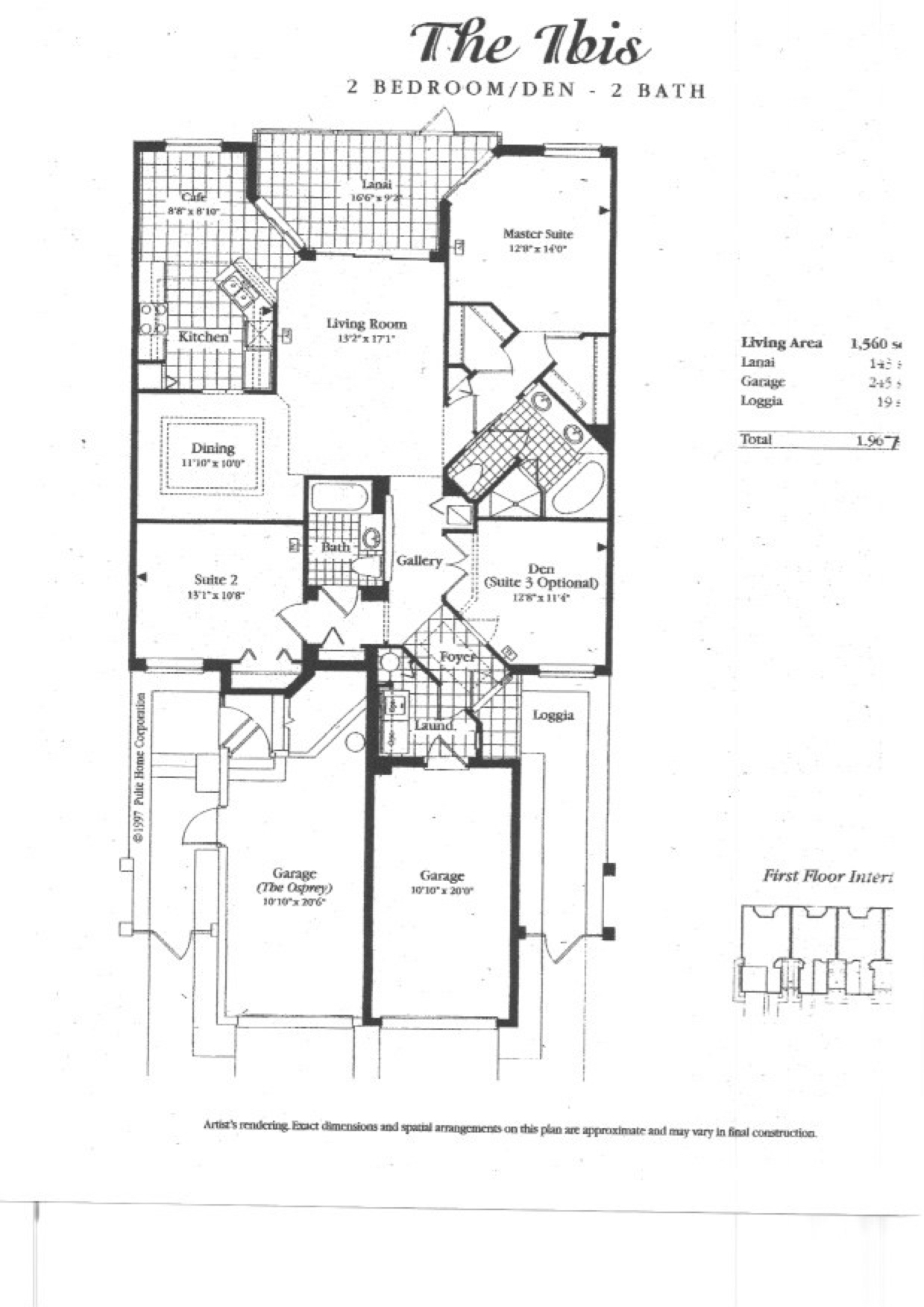 Grande Cay Downstairs Floor Plan