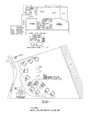 Shell Island Beach Club Floor Plan and Site Plan