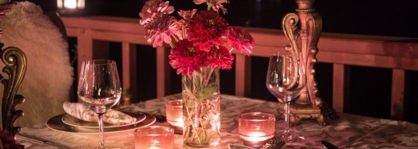 date night table setting
