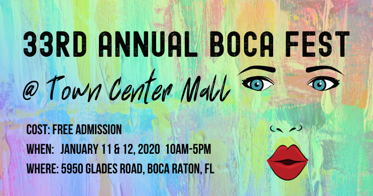 33rd Annual Boca Fest Outdoor Art Show at Town Center Mall in Boca Raton, FL