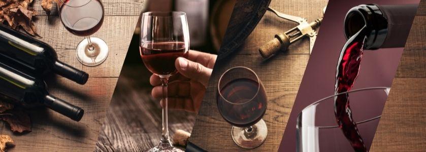wine bar table display