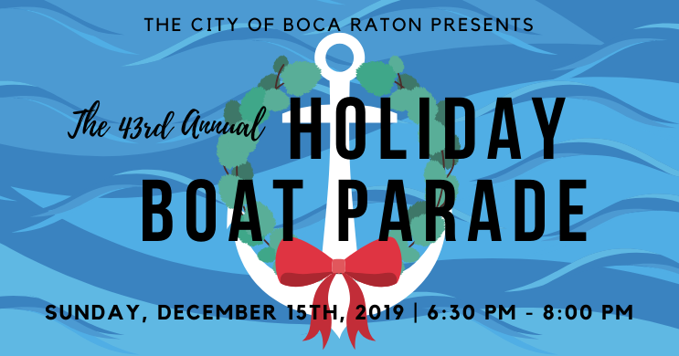 43rd Annual Holiday Boat Parade Boca Raton, FL