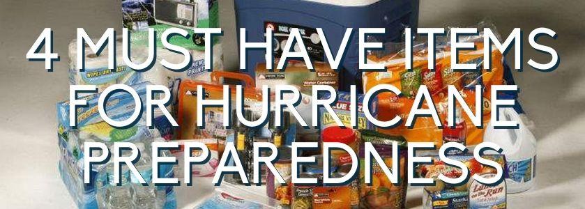 hurricane preparedness items
